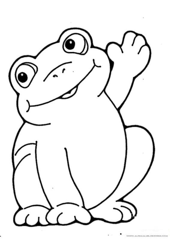 Ausmalbilder Frosch_3.jpg | frosch | Pinterest | Ausmalbilder ...