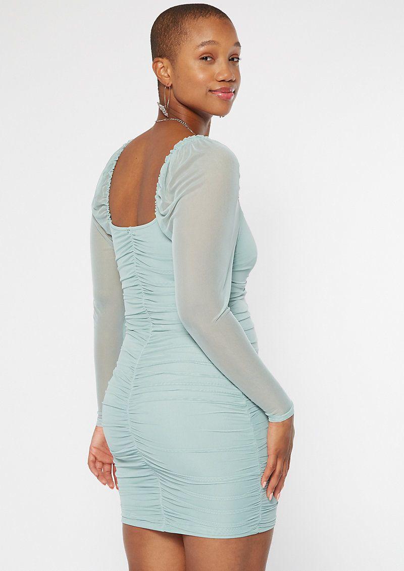 Turquoise Sweetheart Mesh Bodycon Dress Bodycon Dress Mesh Bodycon Dress High Low Maxi Dress [ 1130 x 800 Pixel ]