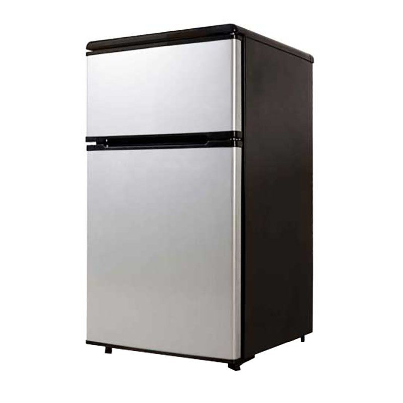 Equator-Midea 3.1 cu.ft. Stainless Steel Double Door Compact Refrigerator - RF 113F-31 SS
