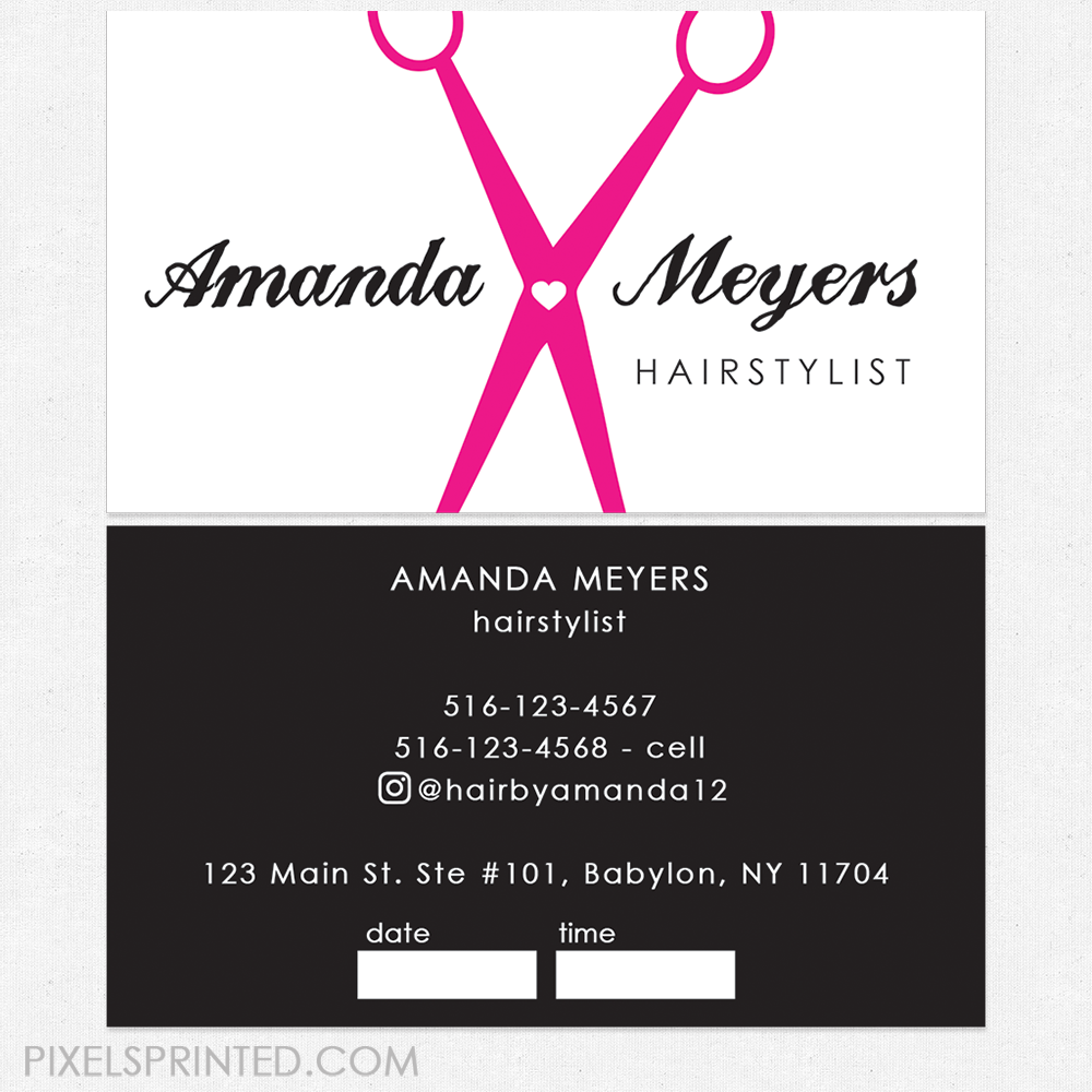 Business Cards For Hairstylist | Unlimitedgamers.co