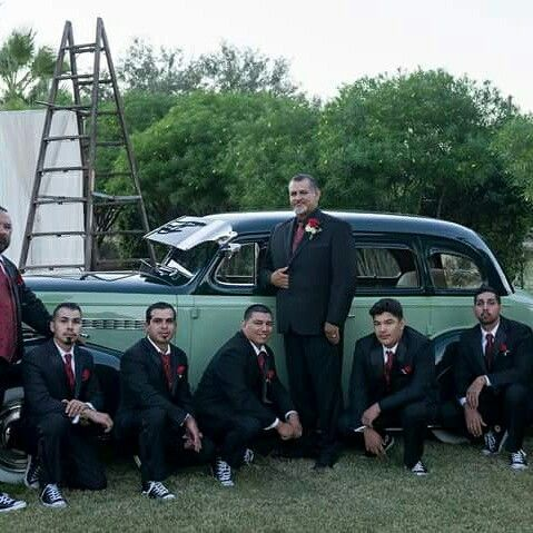 Love this idea. Groomsmen and cars. Great combination