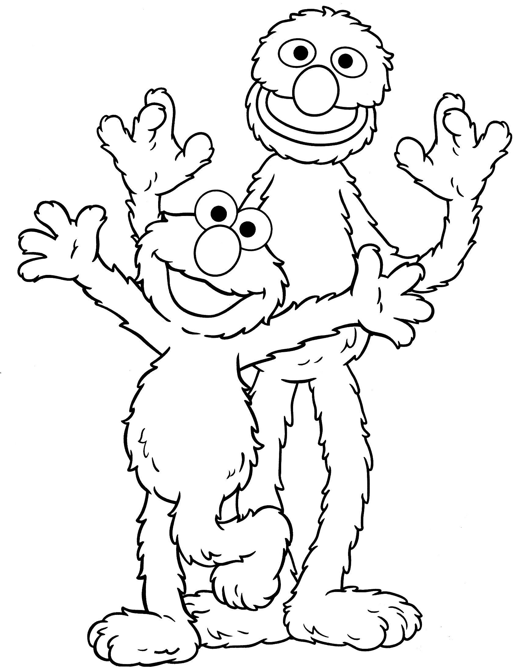 Sesame Street Coloring Pages Bert Free Printable