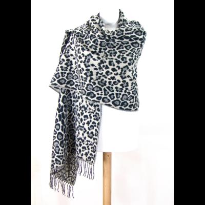 châle panthère noir http   www.mesecharpes.com chale-poncho chale-en-laine -noir-leopard.html e6db9042547