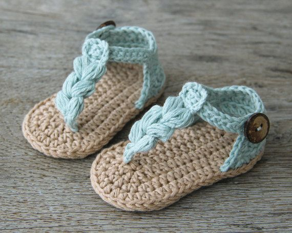1a62dc4b373c KORA Boho Baby Sandals Natural Baby Shoes Crochet Baby