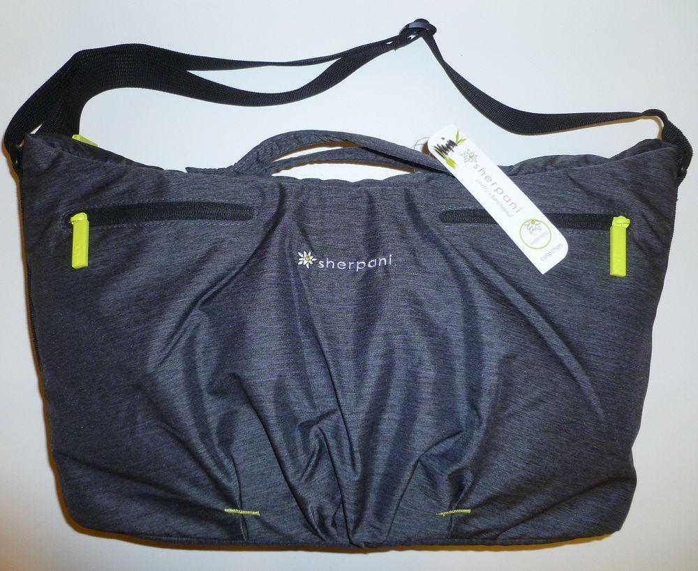 3fc3929c096d4d SHERPANI Force Yoga Tote Gym Bag Diaper Charcoal Grey NEW Pilates Sport  Duffel #SHERPANI