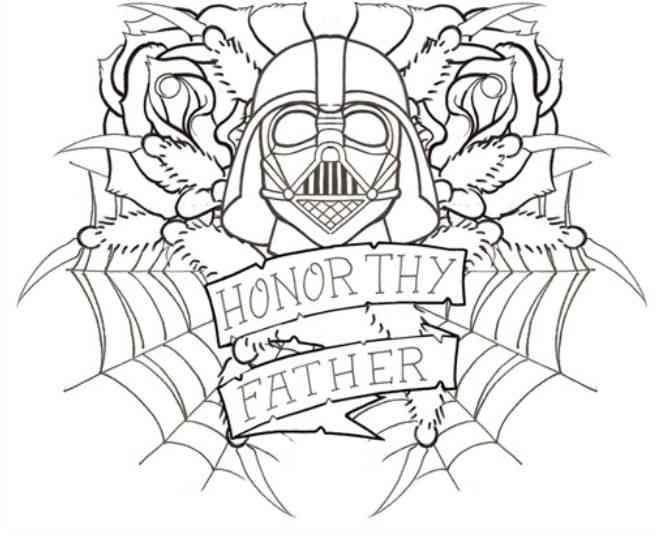 Darth Vader Stress Coloring Pages