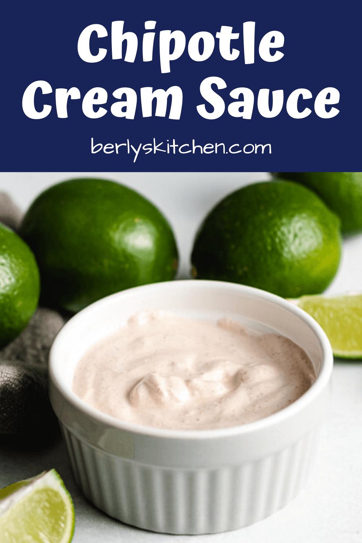 Simple Chipotle Cream Sauce Recipe In 2020 Cream Sauce Recipes Sauce Food Processor Recipes