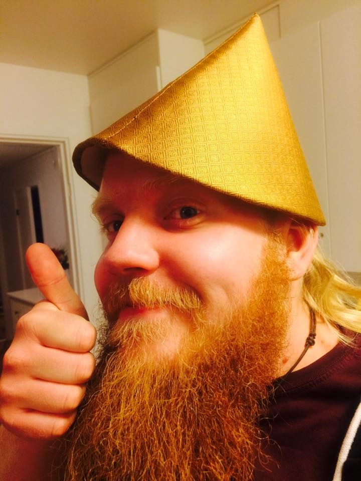 7bc3df3e Max Gullberg's silk(?) conical hat from Birka BJ944 grave | viking ...