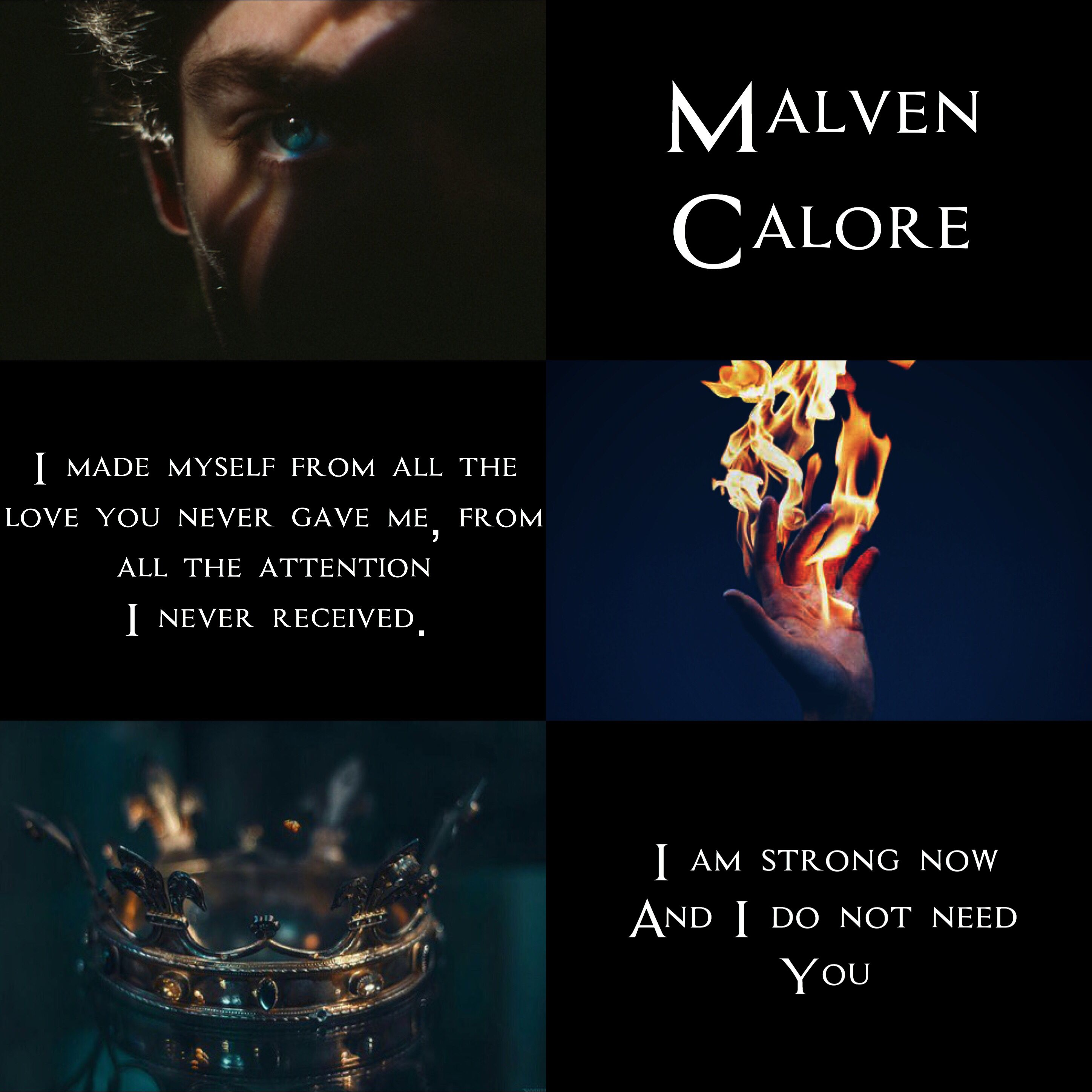 Maven Calore  Red Queen Aesthetics  + R.M. Drake poem