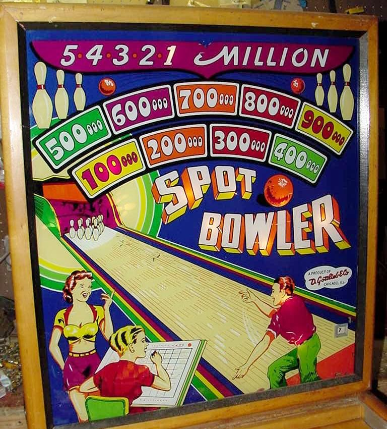 Gottlieb Spot Bowler 1950 Coin Operated Pinball Woodrail Game Vintage Games Pinball Arcade Games
