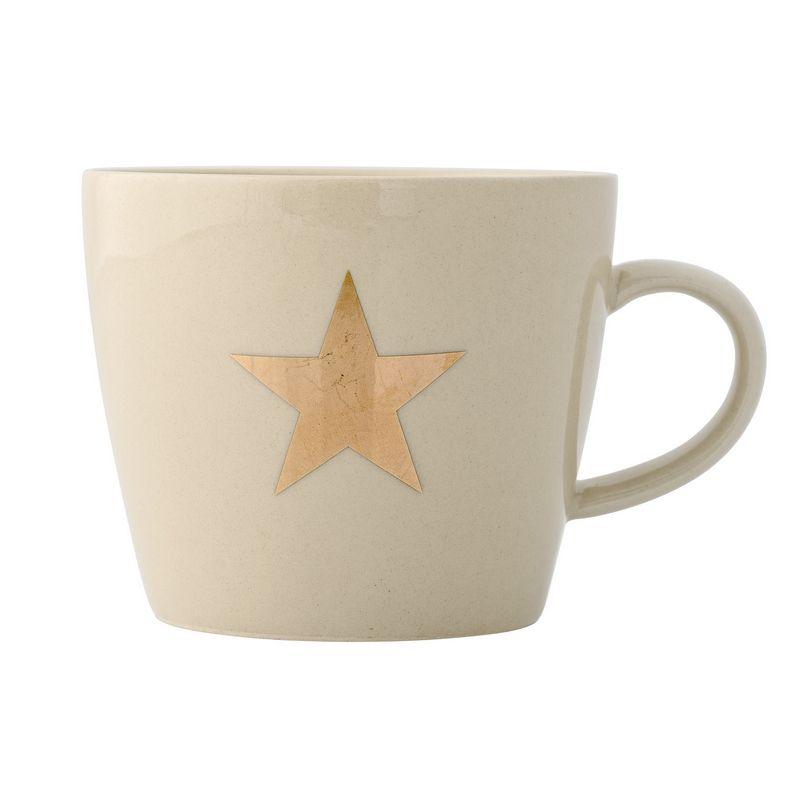 Mug étoile Or De La Marque Bloomingville. Diamètre : 9,5 Cm / Hauteur