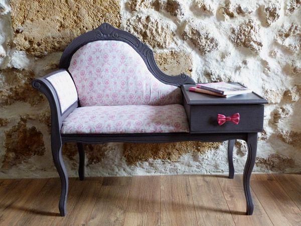 un meuble téléphone relooké | mobilier | pinterest | haute couture - Meuble Pour Telephone Design