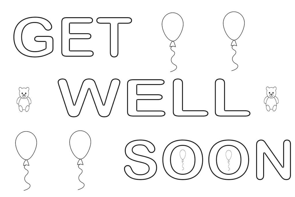 Get Well Soon Coloring Pages In 2020 Coloring Pages Get Well Get Well Soon