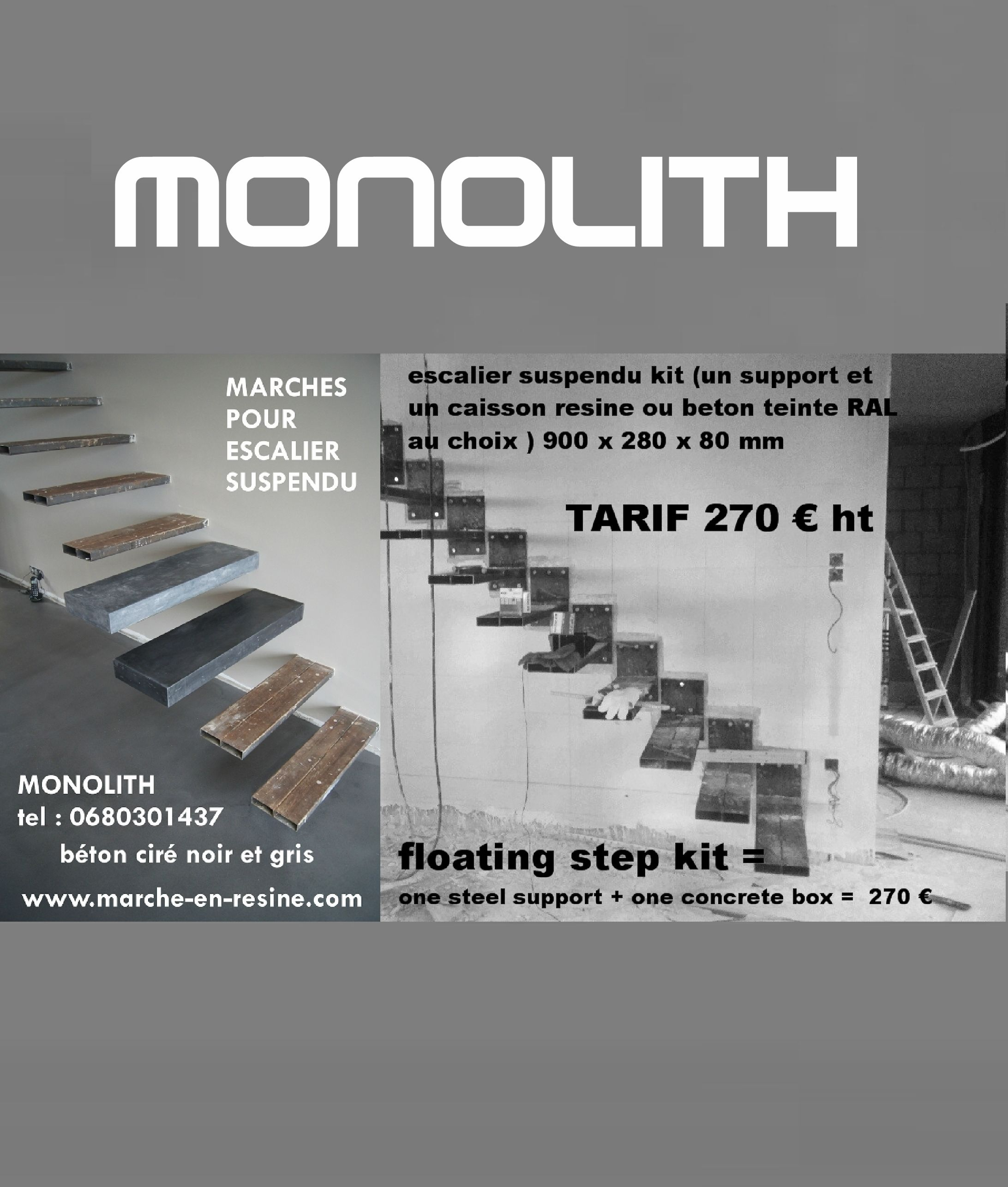 Wonderful #escalier Flottant #escaliersuspendu #floating Stair #floating Stair Kit  #concrete Floating