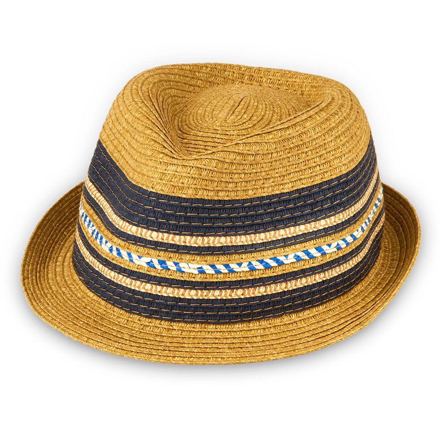6d42e2ea4130 Toddler Boys Mixed Stripe Straw Hat