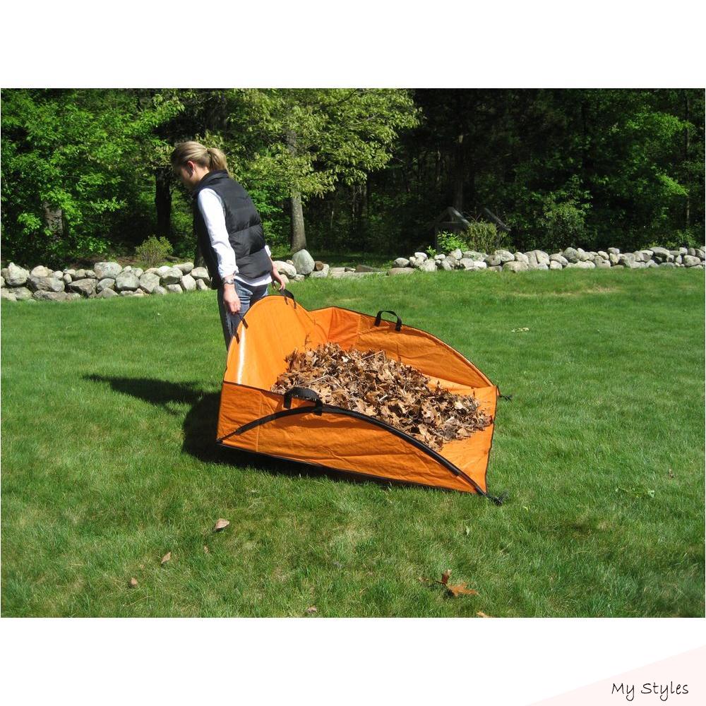 Leaf Collector Tripod Bag 46 x 24 high dark green polyethylene