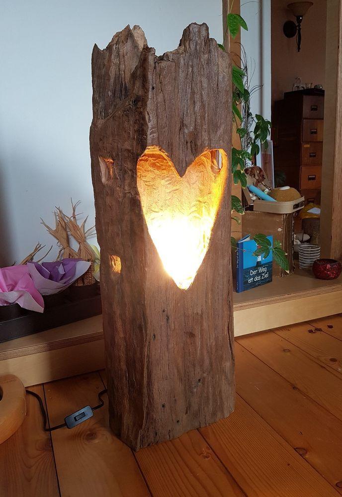 Windlicht laterne aus holzbalken stehlampe leuchte alt for Windlicht laterne