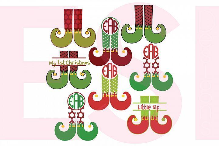 Download Elf Leg Designs And Monograms Set 2923 Svgs Design Bundles Christmas Svg Monogram Design Free Svg