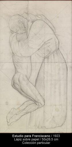 Estudio para Franciscano / 1923 Lápiz sobre papel / 50x26.5 cm colección particular José Clemente Orozco