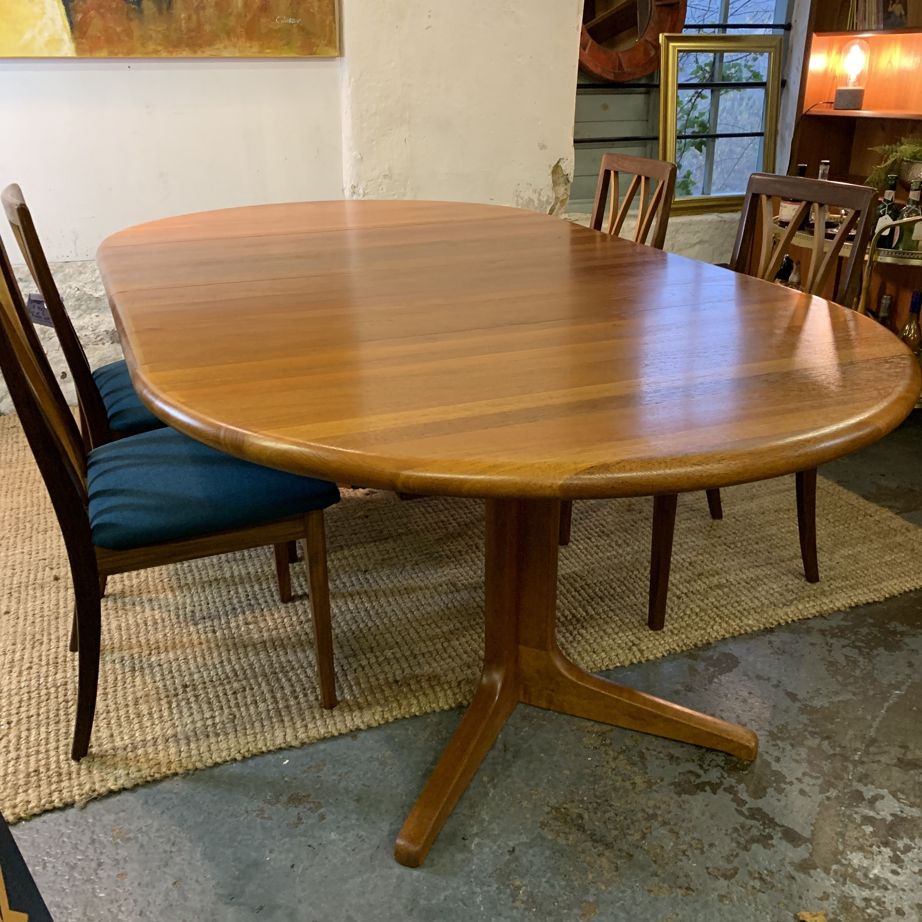 Danish Teak Extending Dining Table By Glostrup Dining Table