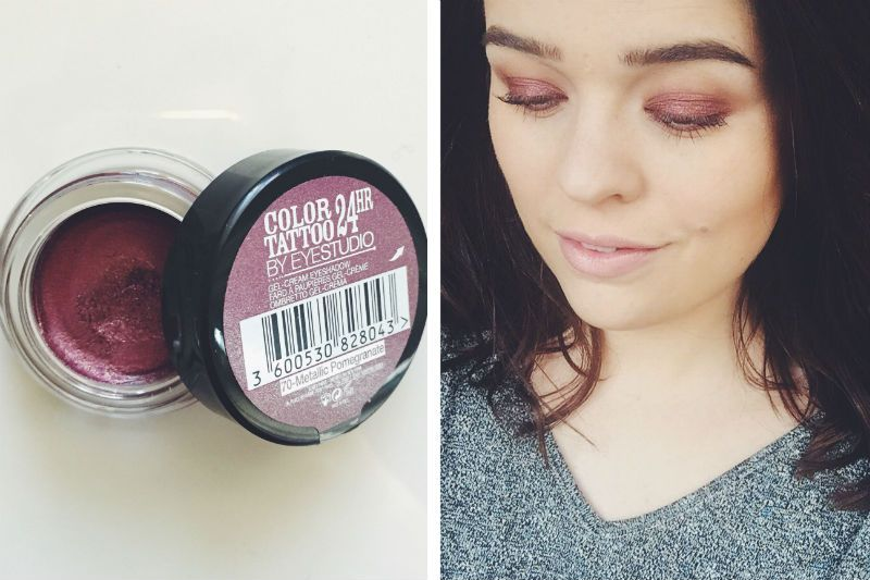 The Rusty Looking Red Toned Shadow Base That S A Bargain Maybelline Color Tattoo Cream Eyeshadow Maybelline Color