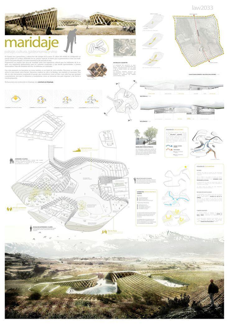 Maridaje 1er premio Concurso paisaje, arquitectura y vino - landscape architect resume