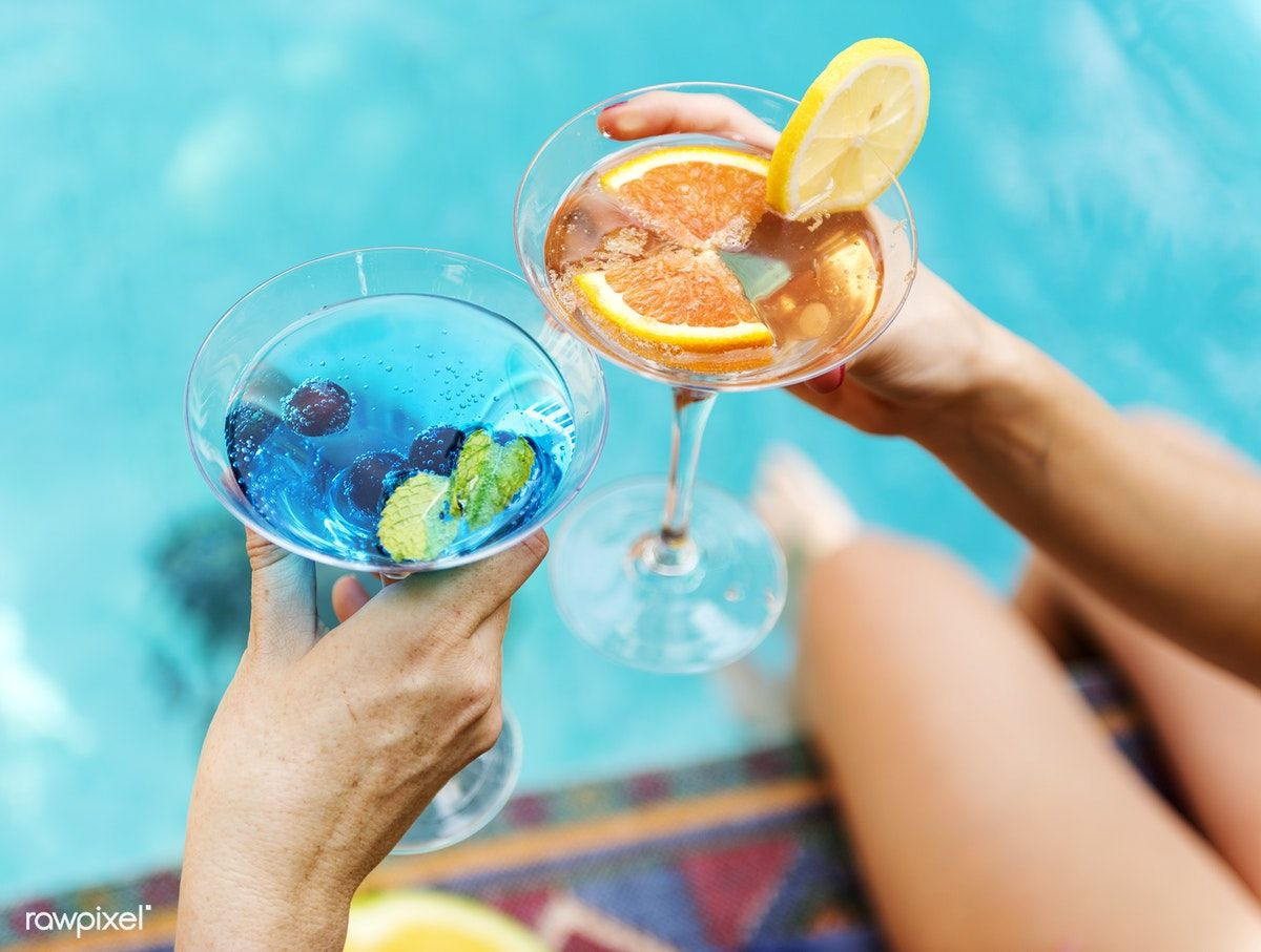 Download premium photo of Cocktail party by the swimming
