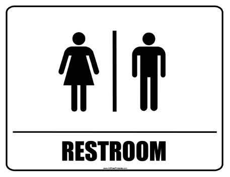 image relating to Printable Restroom Signs called Totally free Printable Restroom Indication Toilets Rest room signs or symptoms
