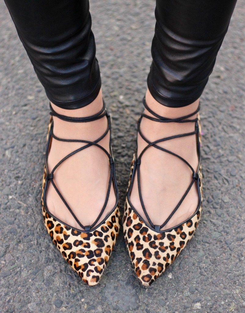 Mondays | Leopard flats, Lace up, Flats