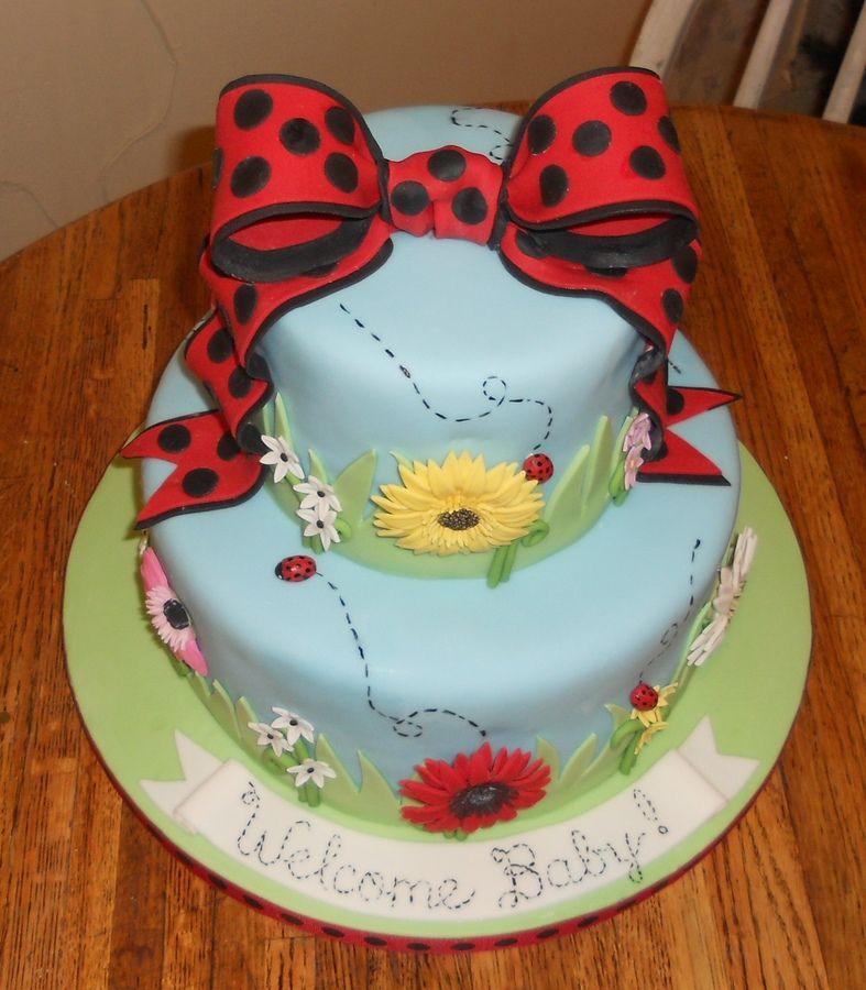 ladybug baby shower theme baby shower cake ladybug theme 2011