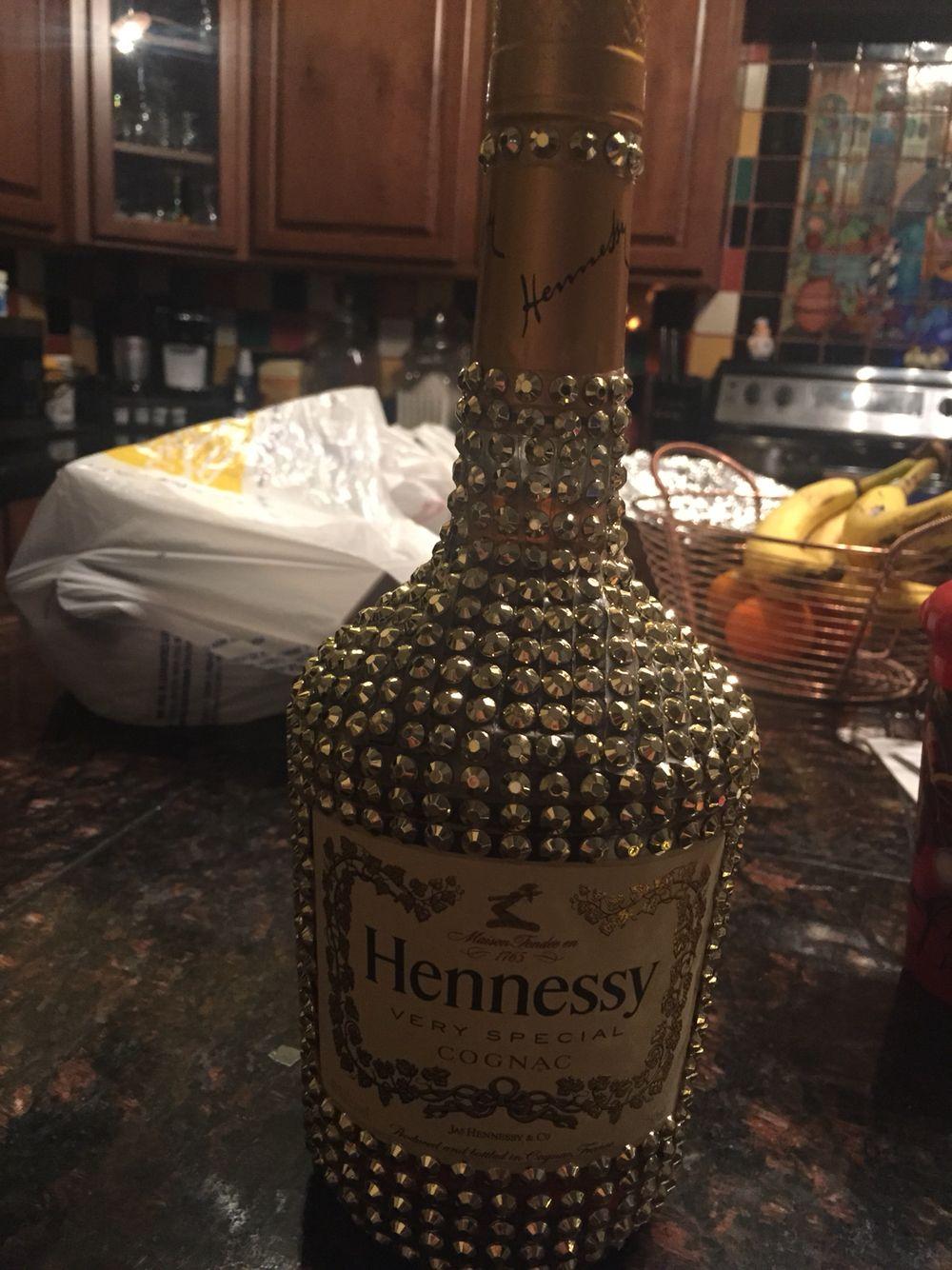 Bling Hennessy Bottle Liquor Bottle Crafts Alcohol