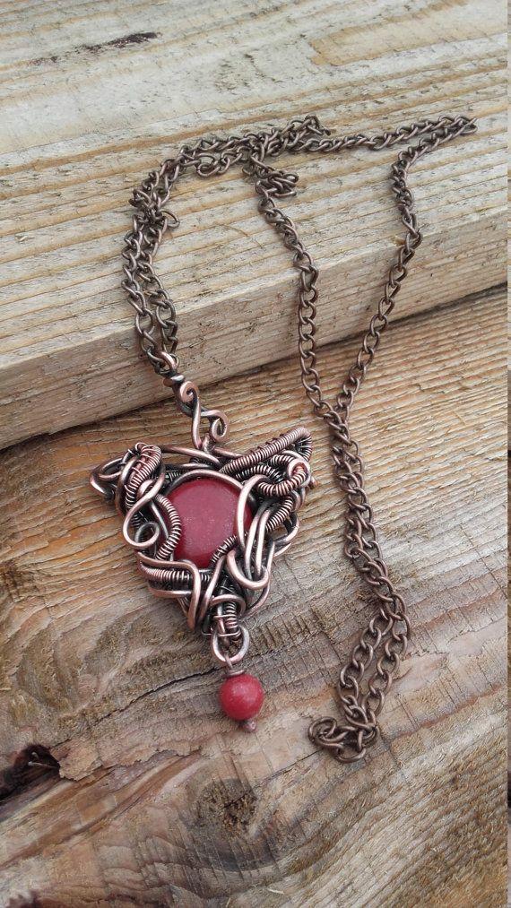 Fantasie-Draht gewickelt Herz Anhänger Halskette mit Herzanhänger ...