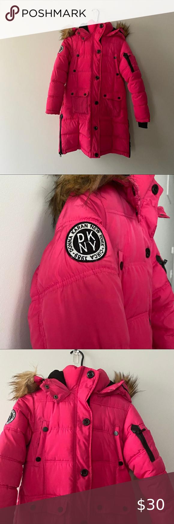 Dkny Girls Winter Coat 14 16 Dkny Girls Quilted Winter Coat W Fur Trim Hood Pink 14 16 Large Dkny Jackets Co Girls Winter Coats Winter Coat Clothes Design [ 1740 x 580 Pixel ]