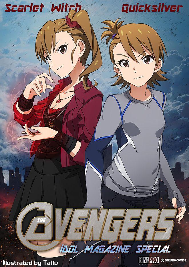 Idolmaster x Avengers, Mami & Ami, by たく(taku) Anime