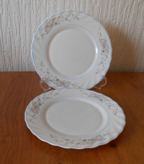 Two Arcopal Pyrex France Victoria Pattern Dinner Plates & Two Arcopal Pyrex France Victoria Pattern Dinner Plates | Pyrex ...