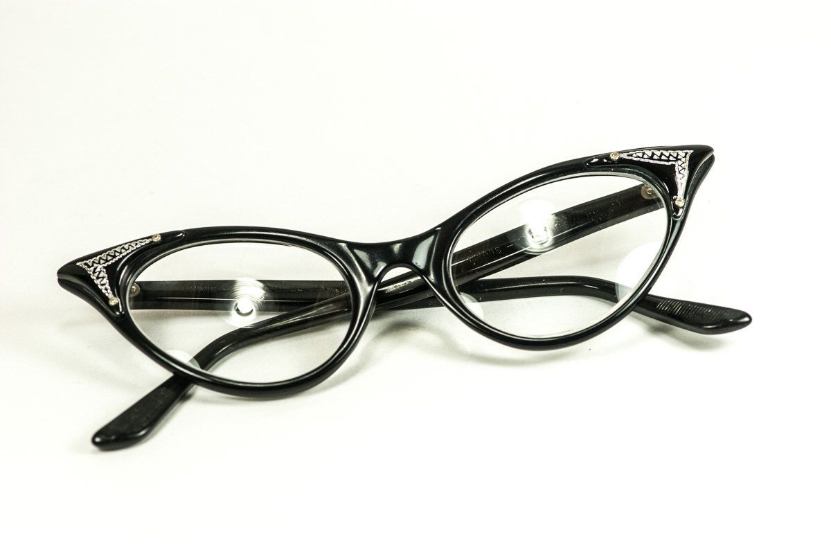 ed7bf11bac75 Cat-Eye Glasses Retro 1950s Univis Zylite 5 1 2 by AMagnificentMess on Etsy