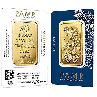 Lot of 2 Gold 1 oz PAMP Gold Suisse Lady Fortuna .9999 Fine Sealed Bars