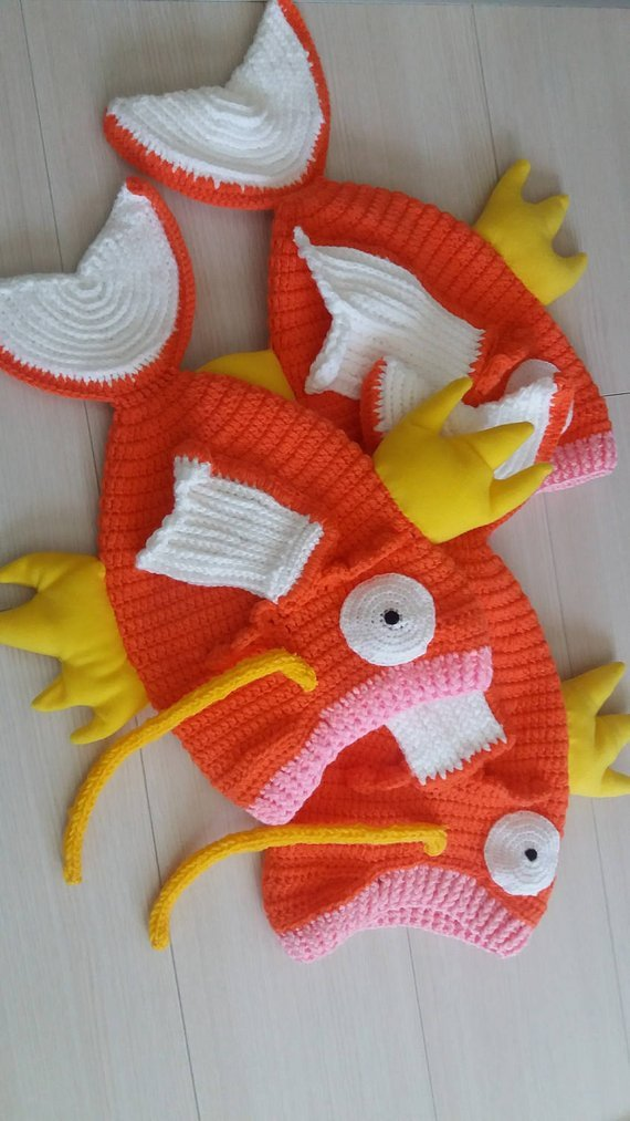 Cuddle Up Magicarp Amigurumi Snuggle Blanket Baby Cocoon