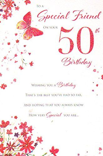 50th Birthday Happy Friend Cards Friends Bday