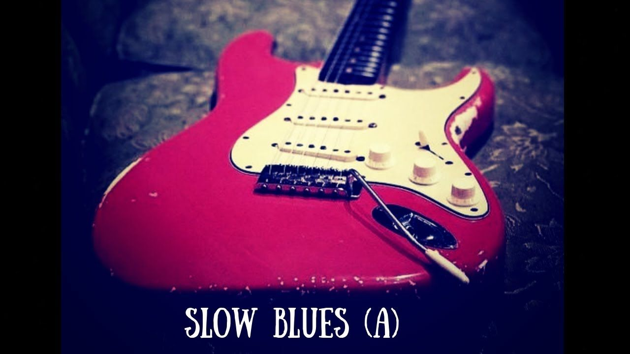 Slow Blues Jam Sexy Guitar Backing Track (A) Guitar