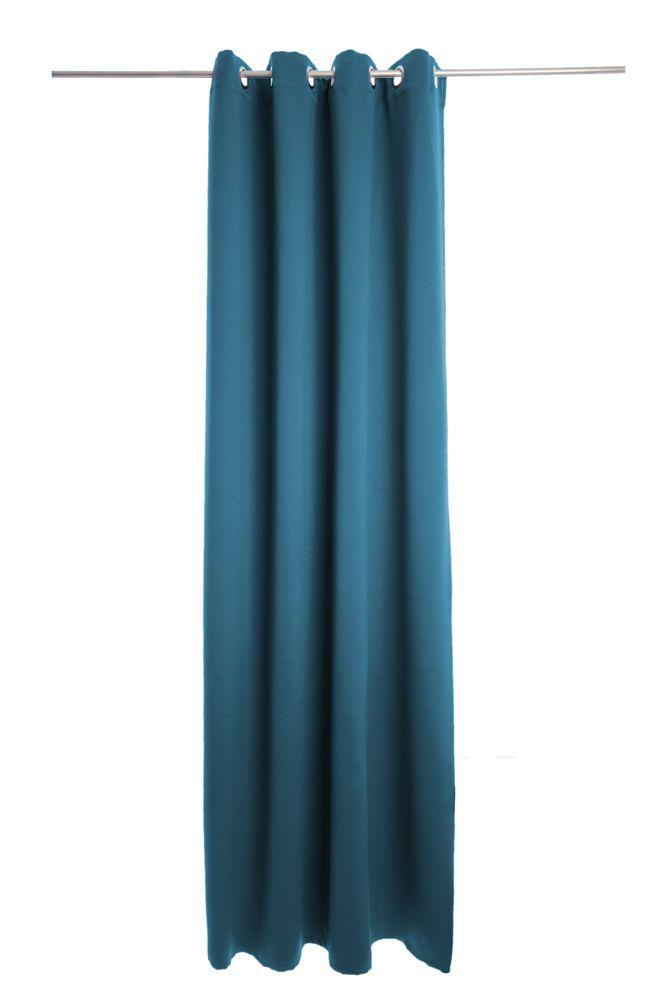 Details zu Vorhang Denton, Verdunkelung, Ösenschal - 140 x 245 cm - vorhange wohnzimmer blau