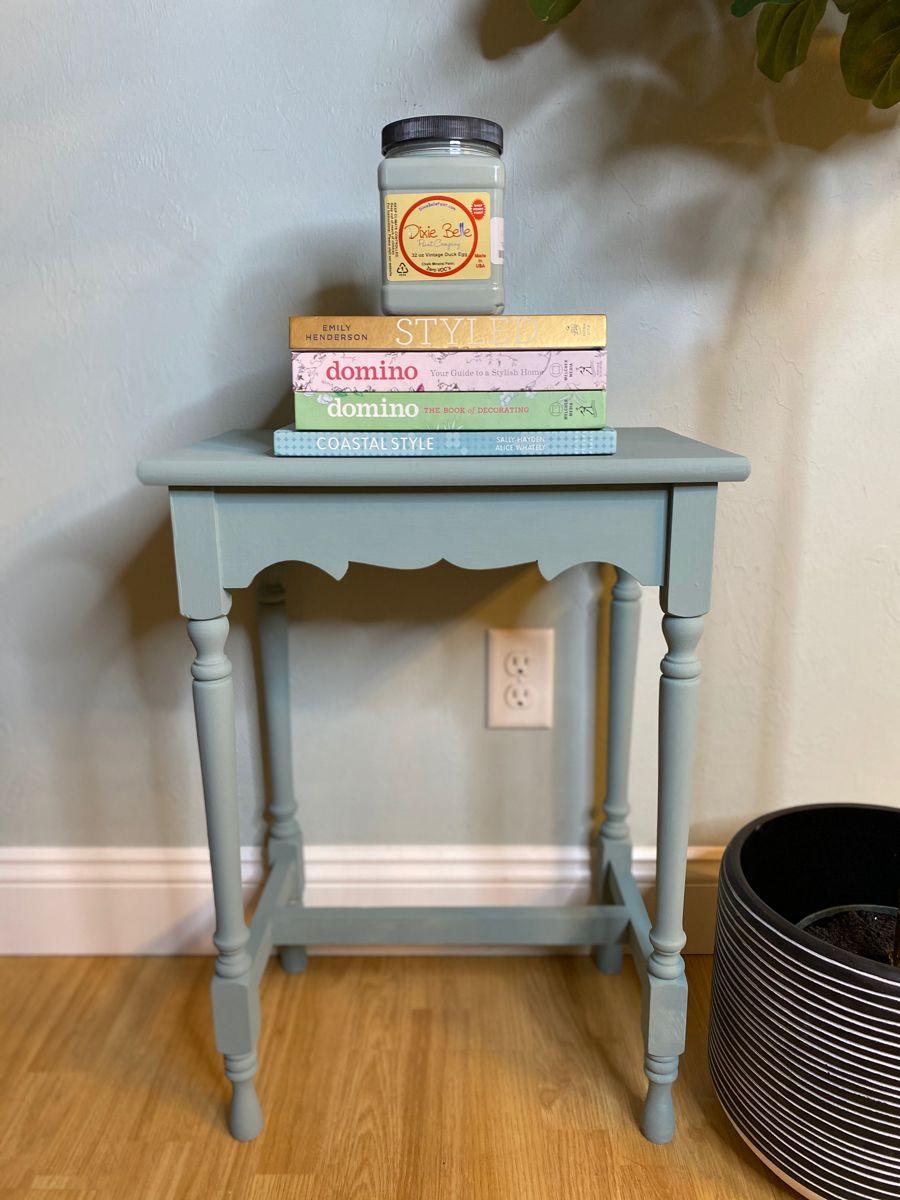 Painted in Dixie Belles Vintage Duck Egg.  #oneofakind #handpainted #taraflynnco #taraflynn #restyled #redesigned #furniturepainter #paintedfurniture #furnitureartist #vintagefurniture #dixie belle