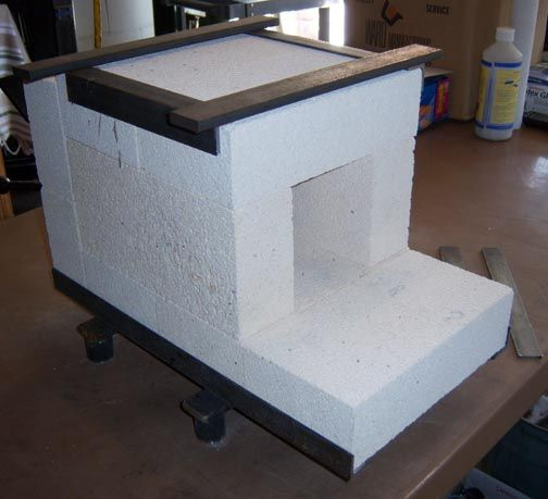 A Small Fire Brick Forge Similar To The One I Might Build