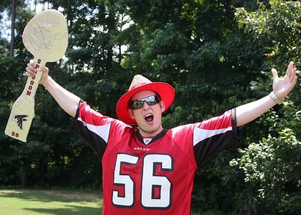 Training Camp Falcons Fans Rise Up Falcons Fan Training Camp Falcons