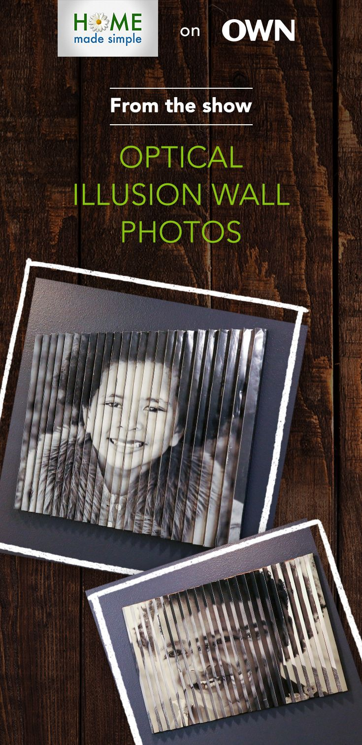 Optical illusion wall art. Get stepbystep instructions