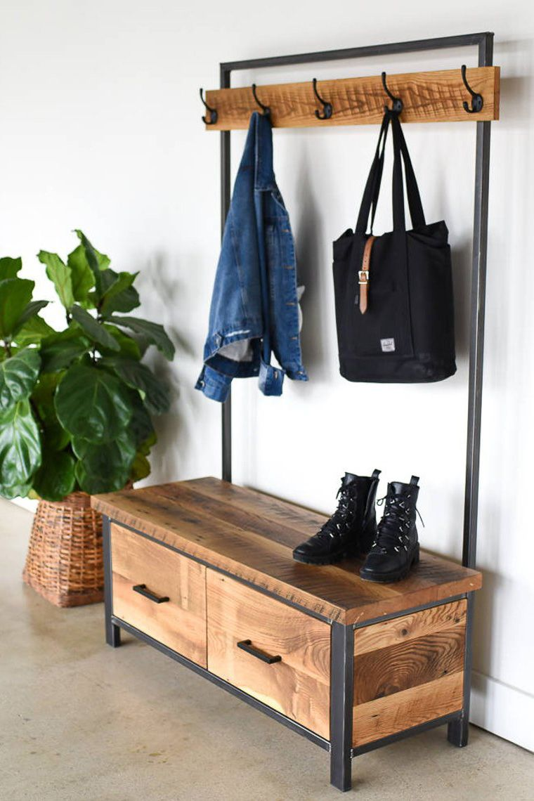 Add A Warm Industrial Feel To Your Entryway With A Hand Crafted