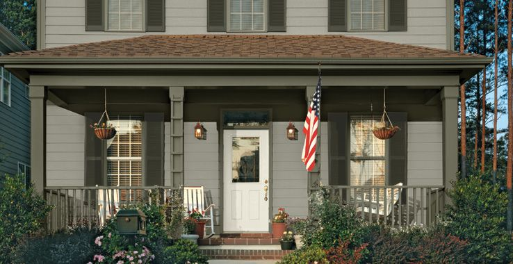 Exterior Color Scheme Sherwin Williams Downing Stone With