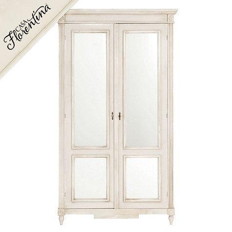 Casa Florentina Louis Xvi Armoire With Mirrored Doors Custom Ballard Designs Mirror Door Armoire Ballard Designs
