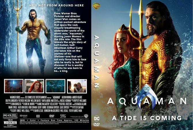 aquaman  2018  dvd custom cover