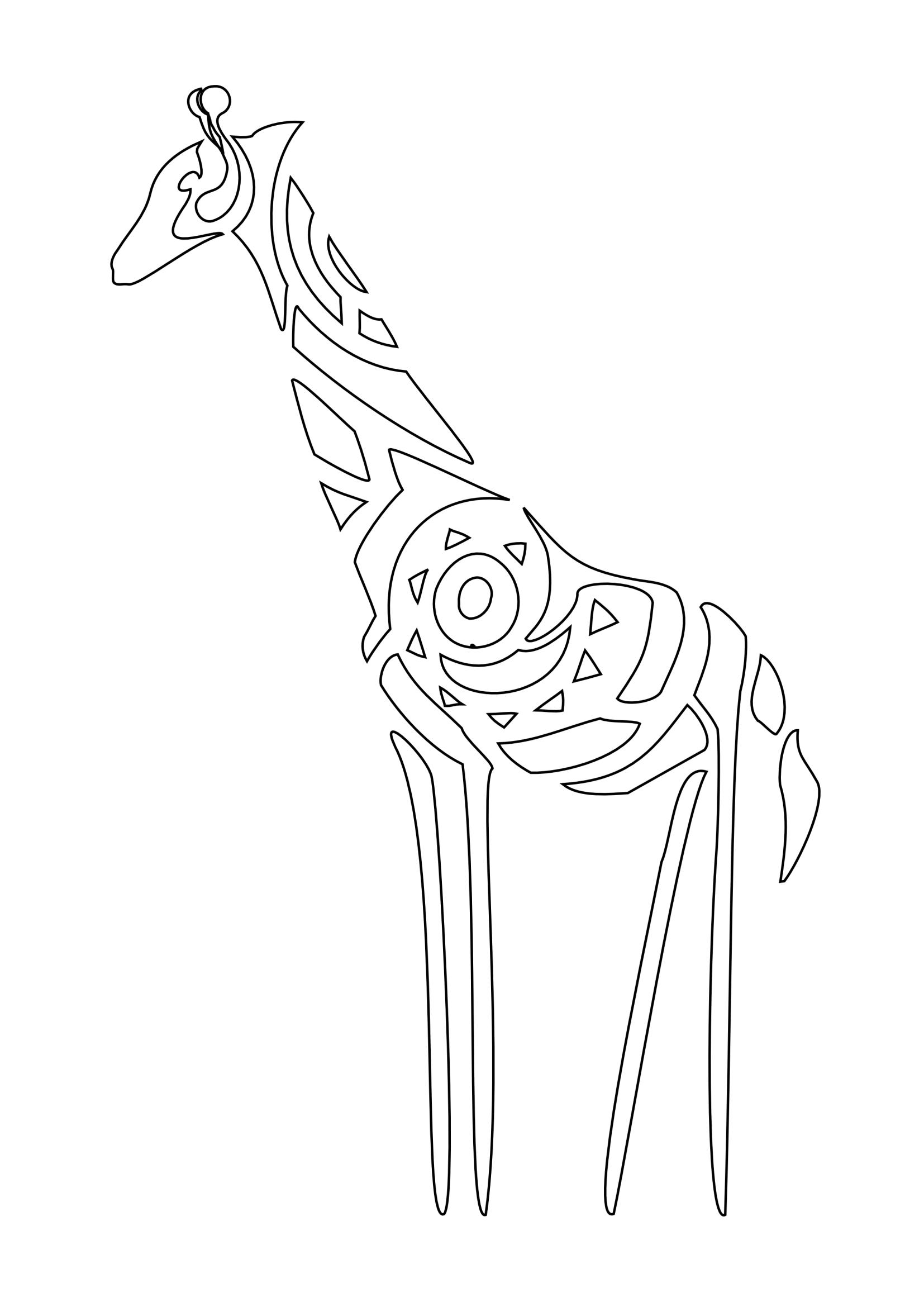 Giraffe Stencil Png 1654 2339 Giraffe Tattoos Giraffe Quilt Elephant Art
